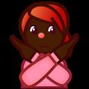 腕バツ 茶 Emojidex Custom Emoji Service And Apps