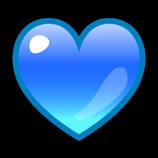 blue heart | emojidex - custom emoji service and apps