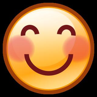 emoji betekenis blozend gezicht / foto: emojidex.com