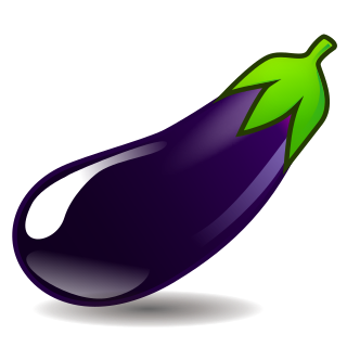emoji betekenis aubergine, foto: emojidex.com