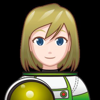 female astronaut(wh) | emojidex - custom emoji service and apps