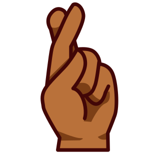 hand with index and middle finger crossed br emojidex custom rh emojidex com free clipart fingers crossed clipart crossed fingers