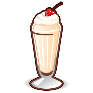 Milkshake on Transparent Emoji Food