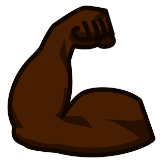 Image result for muscle emoji