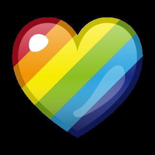 rainbow heart diagonal emojidex 絵文字デックス カスタム絵文字