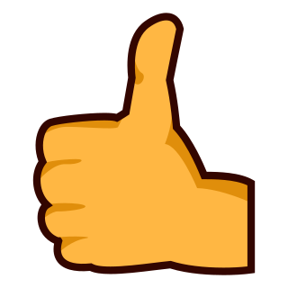 reversed thumbs up sign emojidex 絵文字デックス カスタム絵文字