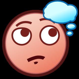 thinking face(p) | emojidex - custom emoji service and apps