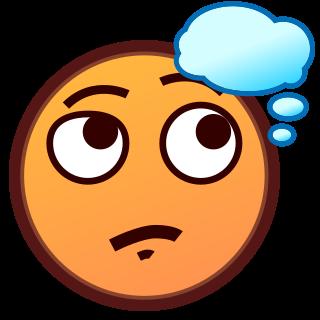 thinking face | emojidex - custom emoji service and apps