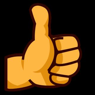 emoji betekenis duim omhoog / foto: emojidex.com